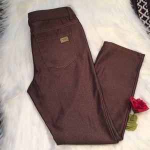 MICHAEL KORS- size 4 brown ankle pants